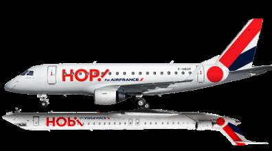 Un aereo di HOP!