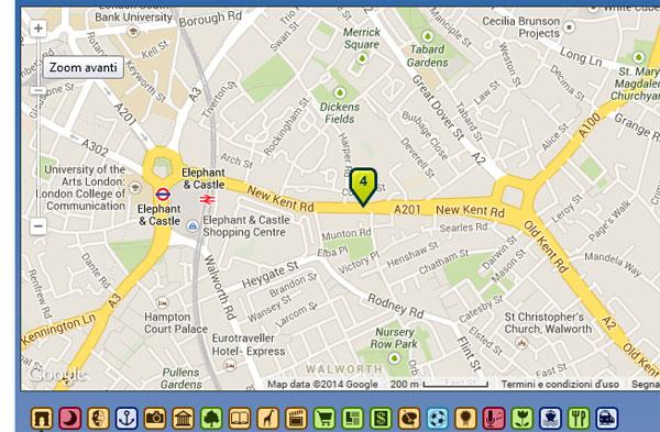 Metro di Londra con la mappa