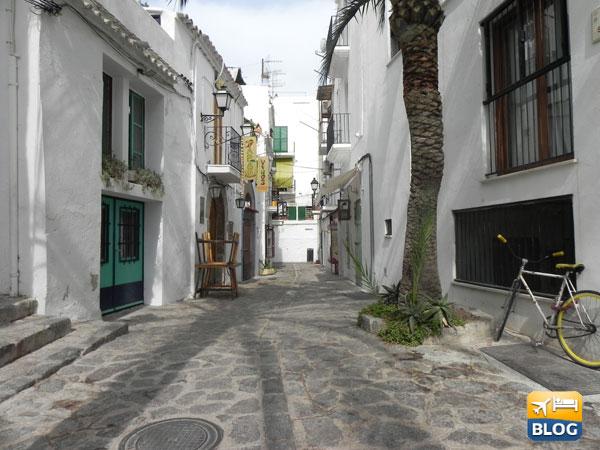 Stradine con ristoranti ad Ibiza