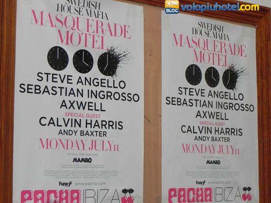 Cartelloni pubblicitari delle serate ad Ibiza