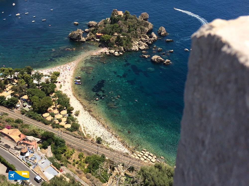 Isola Bella vista da Via Nazionale