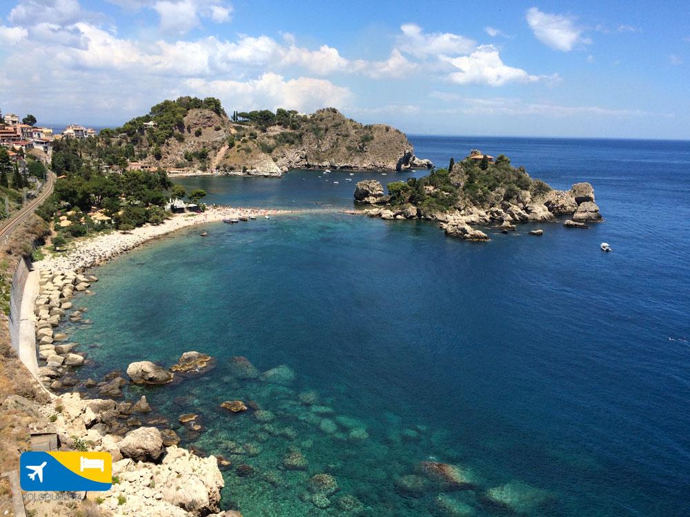 Isola Bella a Taormina la baia