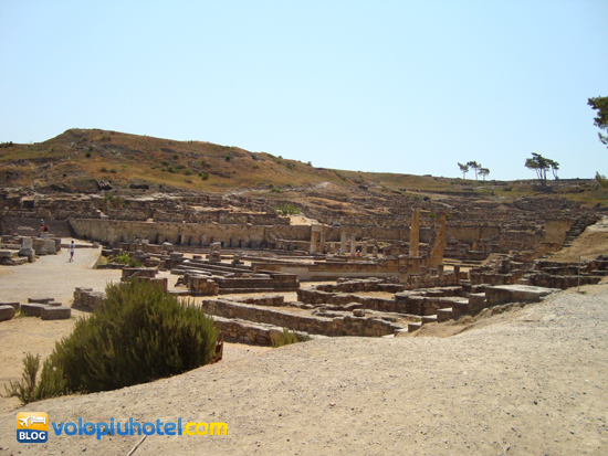 Veduta dall'alto delle case di Kàmiros