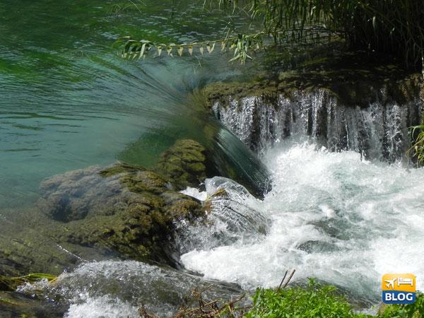 Il corso del fiume e le cascate