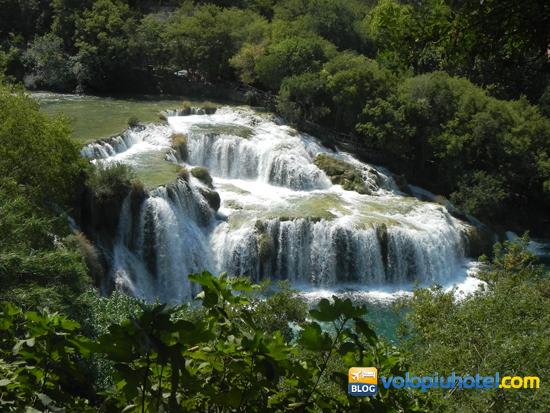 Krka le cascate dall'alto