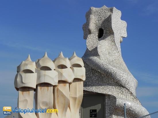 Il tetto della Pedrera