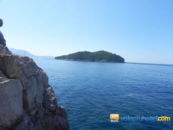 Isola di Lokrum vista da Dubrovnik