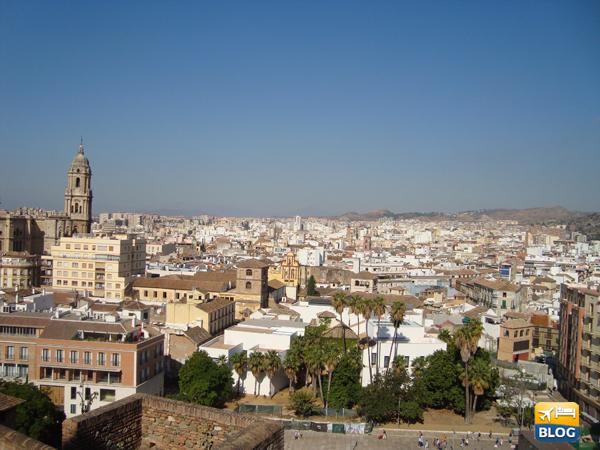 Panorama della città di Malaga
