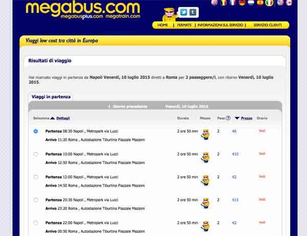 Itinerario di Viaggio con Magabus.com