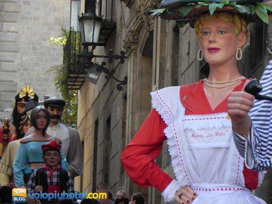 Los Gigantes alla Festa de la Mercè a Barcellona