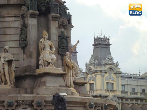 Basamento del Monumento di Colomb a Barcellona