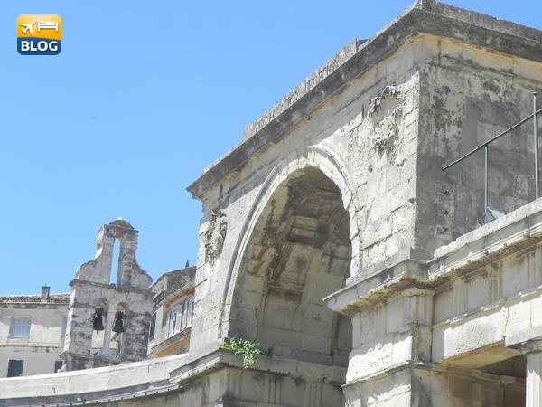 Il Palazzo che ospita il museo di arte asiatica a corfù