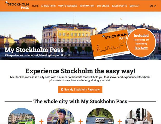 Sito ufficiale della My Stockholm Pass