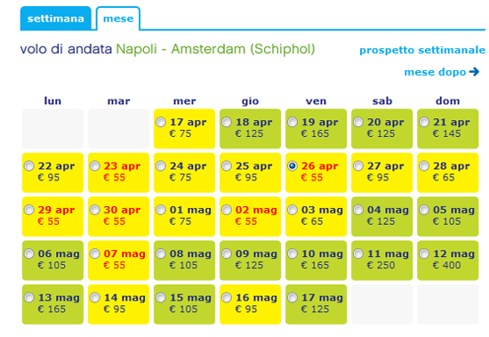 Napoli - Amsterdam con Transavia