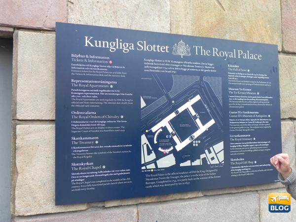 Mappa del Palazzo posta al di fuori della struttura