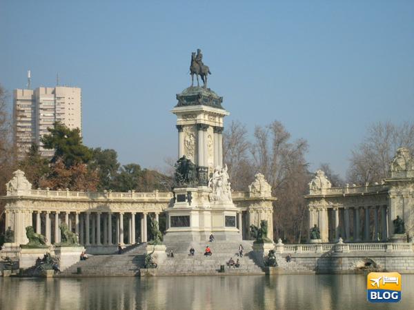 Estanqe Grande al parco del Buen Retiro di Madrid