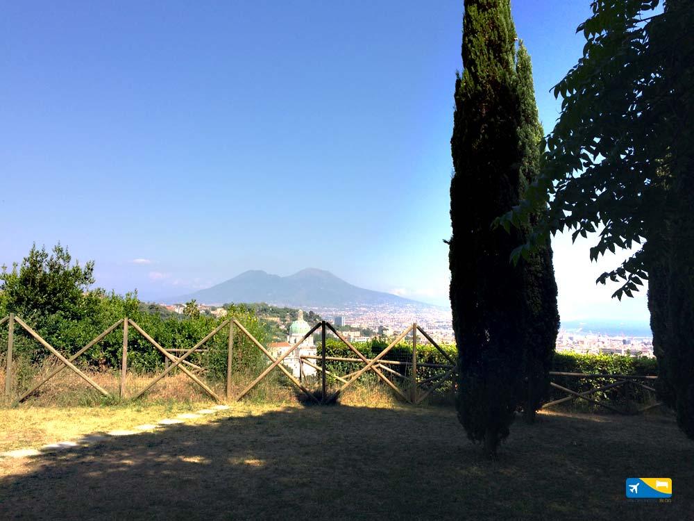 Panorama dal Parco del Poggio a Napoli