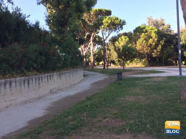 Parco Virgiliano dal lato di Valle dei Re