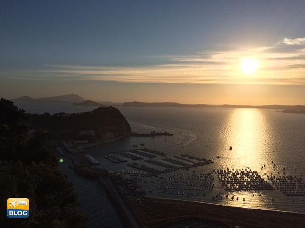 Panorama al tramonto dal Parco Virgiliano
