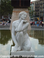 La Diosa in Piazza Catalunya