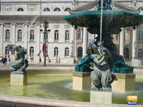 Piazza del Rossio Lisbona