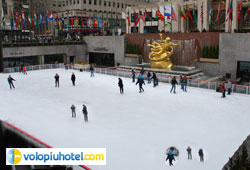 Pista di pattinaggio a Rockfeller Center