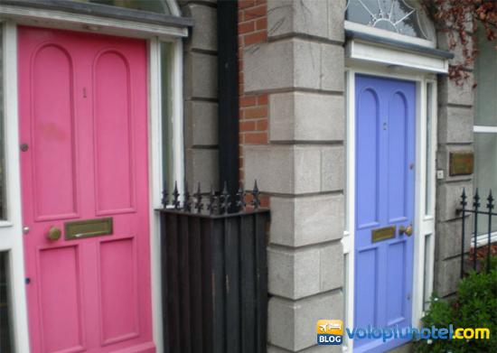 Porte colorate a Dublino