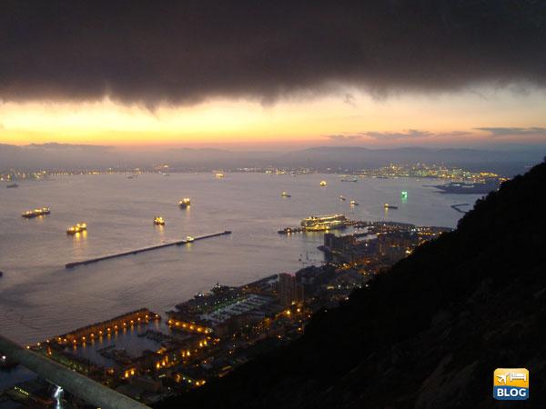 Porto di Gibilterra visto dalla Rocca