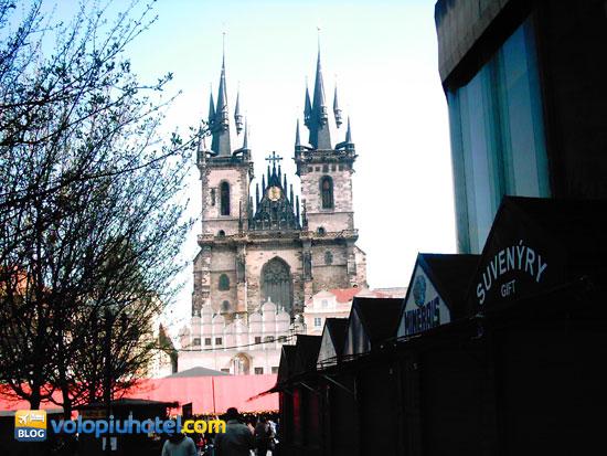 Le casette in piazza a Praga