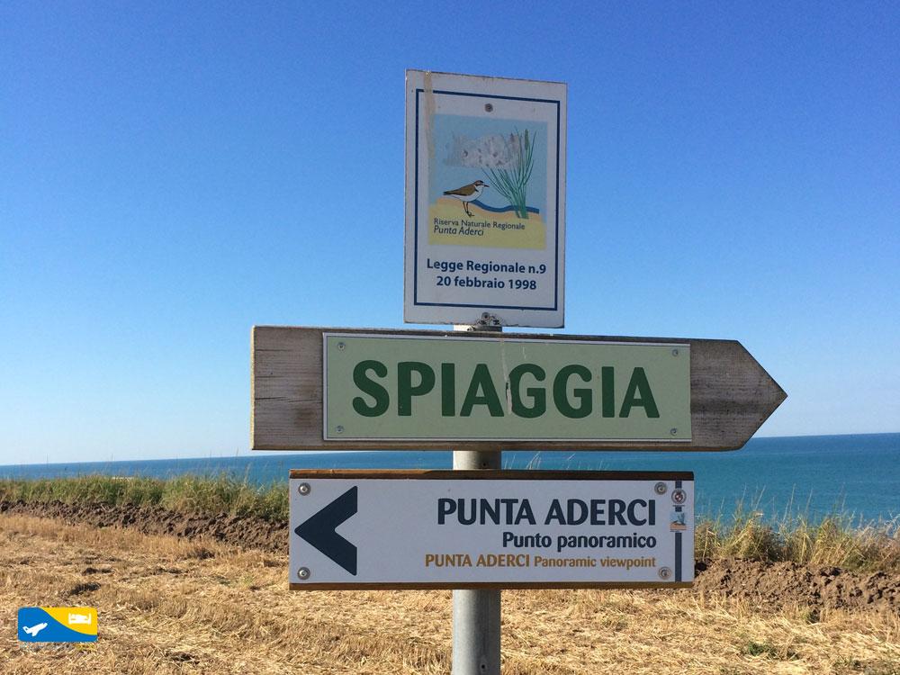 indicazioni spiaggia Punta Aderci