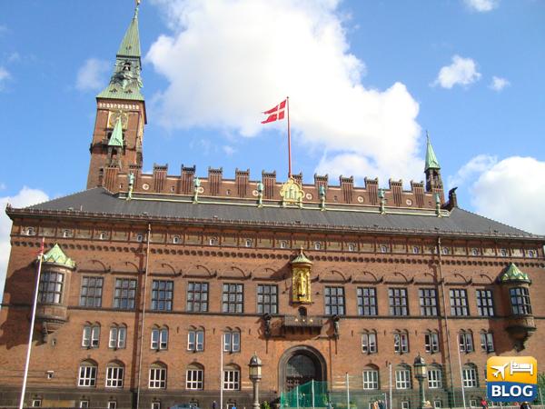 Facciata del Municipio di Copenaghen