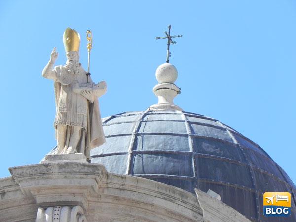 La cupola della chiesa di San Biagio a Dubrovnik