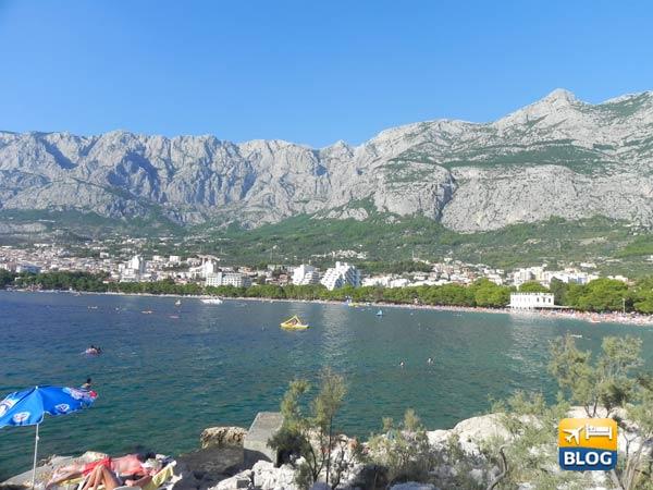 Spiagge di Makarska in centro