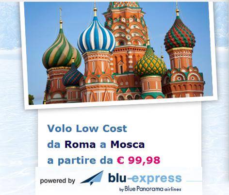 Roma Mosca con Blu Express