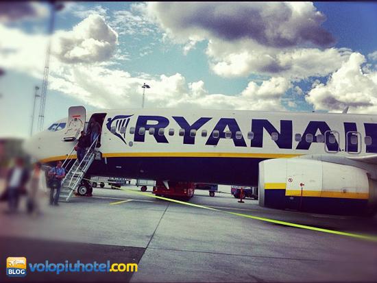 Aereo della Ryanair a Ciampino
