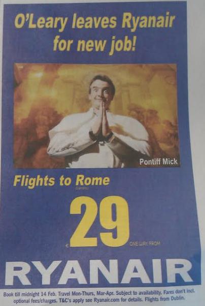 Ryanair spot in Irlanda