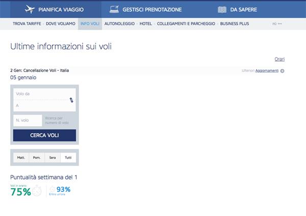 Info voli su sito Ryanair