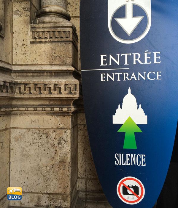 Entrata al Sacro Cuore di Parigi