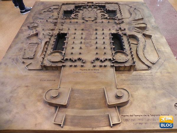 Pianta della Sagrada Familia