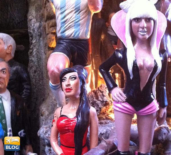 Statuine di Amy Whinehouse e Lady Gaga