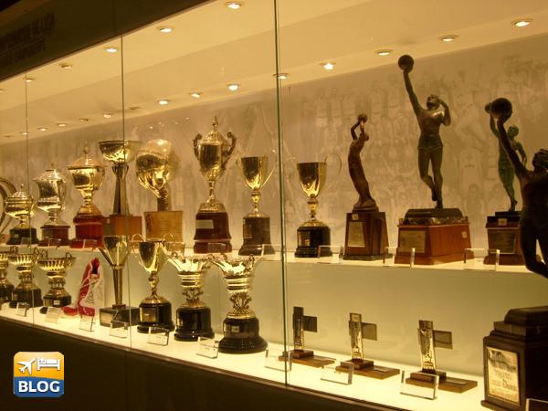 Sala trofei al Santiago Bernabeu