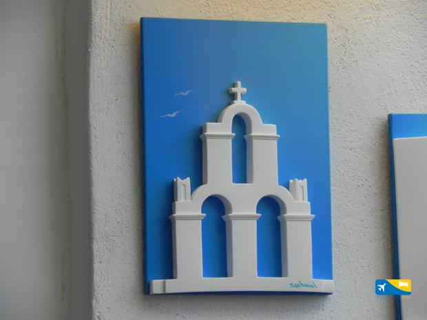 Shopping a Santorini