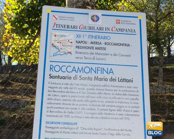 Tabella turistica del Santuario di Santa Maria dei Làttani