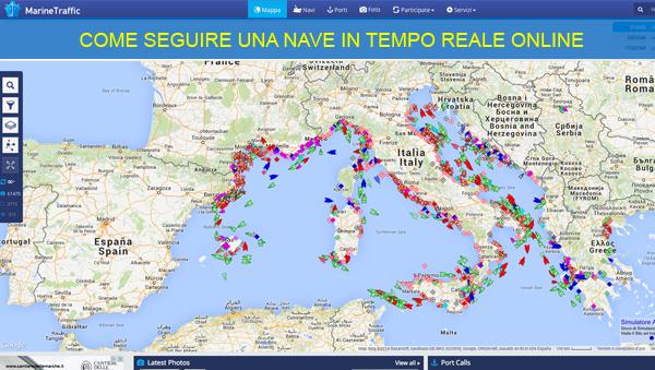 Mappa per seguire navi online