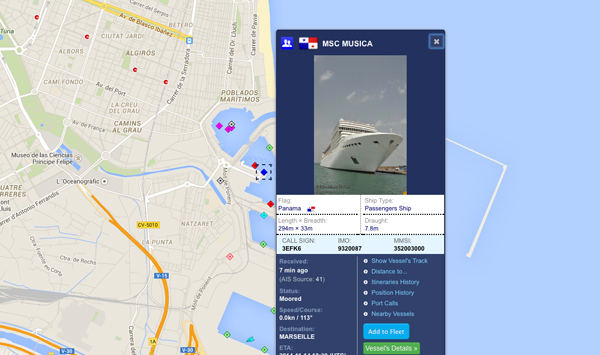 Dettaglio navi con foto