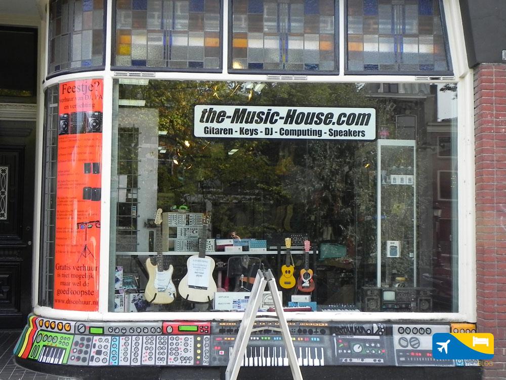 Shop di musica a Utrecht