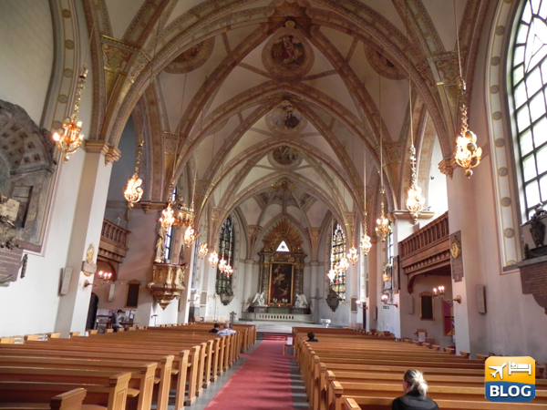 Interno della chiesa di Santa Clara a Stoccolma
