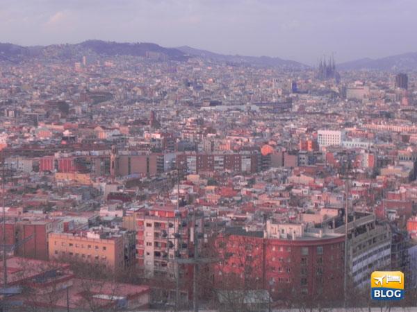 Il panorama dalla Teleferica di Montjuic