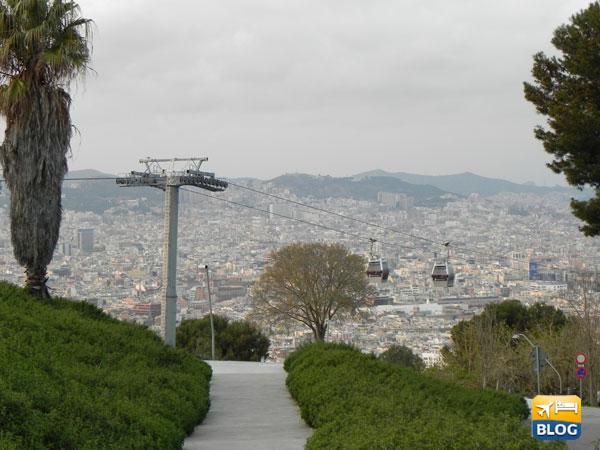 La teleferica di Montjuic a Barcellona