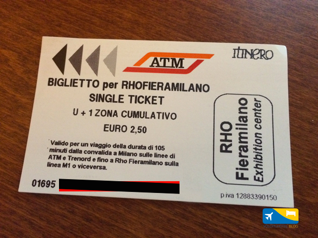Ticket Milano Fiera